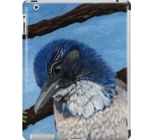 Pretty Western Scrub Jay Bird iPad Case/Skin
