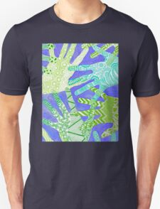 All Hands In- Purple/ Green T-Shirt