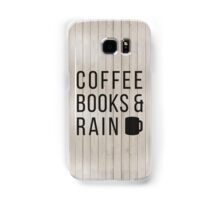 Coffee Books & Rain Samsung Galaxy Case/Skin