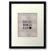 Coffee Books & Rain Framed Print