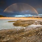Rainbow over Currumbin Beach | Gold Coast | Australia by Pawel Papis