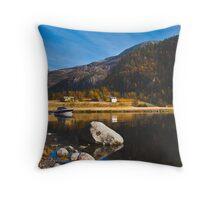 Autumn Fjord - Mostraumen, Norway Throw Pillow
