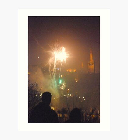Mousehold Heath Fireworks night 2010 Art Print