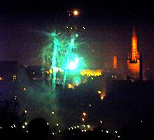 Mousehold Heath Fireworks night 2010 by stephen denton