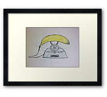 banana phone Framed Print