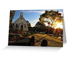 Sunrise at St Matthews Church. Brisbane, Queensland, Australia. Greeting Card