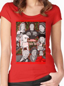 national lampoon's christmas vacation tribute art Women's Fitted Scoop T-Shirt