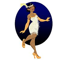 Smiling Flapper Photographic Print