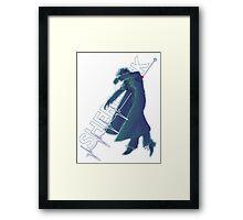 Flying Backwards Framed Print
