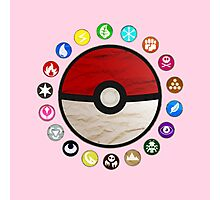 Pokemon pokeball - red Photographic Print