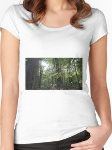 Gleaming Hope in the Forest. Women's Fitted Scoop T-Shirt