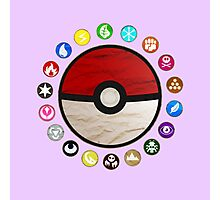 Pokemon pokeball - purple Photographic Print