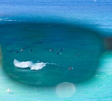 The Surfers At Tamarama Beach - Sydney by Bryan Freeman