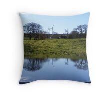 Whitelee Wind Farm Throw Pillow