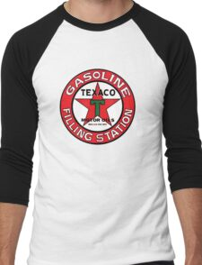 TEXACO VINTAGE OLD GASOLINE MOTOR Men's Baseball ¾ T-Shirt
