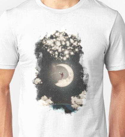 The Big Journey of the Man on the Moon Unisex T-Shirt