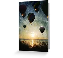 The Night is for Romantic Journeys Greeting Card