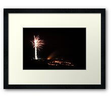 Wye Bonfire Night Framed Print