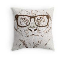 The Hipster Tiger Throw Pillow