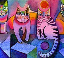 Rainbow cats by Karin Zeller