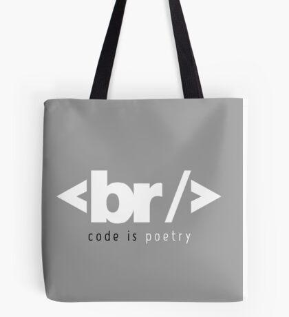 code is poetry Tote Bag