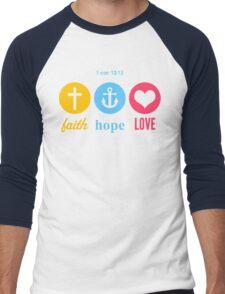 Faith, Hope & Love Men's Baseball ¾ T-Shirt
