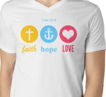 Faith, Hope & Love Mens V-Neck T-Shirt