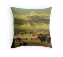 Winter morning, Ovens Valley Throw Pillow