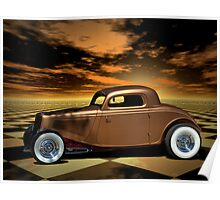 "1934 Ford ""Copper Tone"" Hot Rod Poster"