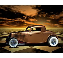 """1934 Ford """"Copper Tone"""" Hot Rod Photographic Print"""