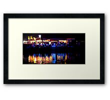 funfair on the lake Framed Print
