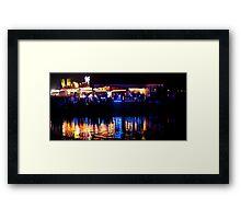 funfair on the lake Framed Print