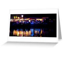 funfair on the lake Greeting Card