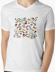 Sweet Guns and Roses Mens V-Neck T-Shirt