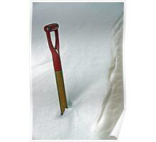 The Snow Shovel - Dunrobin Ontario Poster