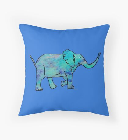 Elephant 8R Throw Pillow