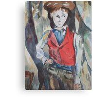 Red Vest Boy Awash Canvas Print