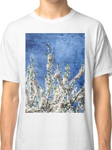 Cherry Blossoms on Blue Classic T-Shirt