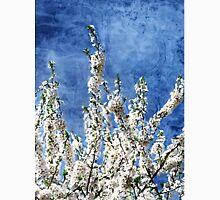 Cherry Blossoms on Blue Unisex T-Shirt