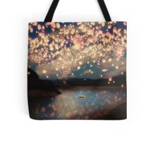 Wish Lanterns for Love Tote Bag