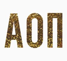 Gold Glitter AOII by rosiestelling