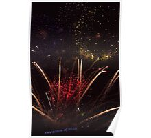 Fire in the Night Sky Poster