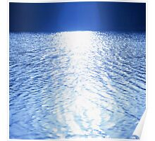 Sun on the water Poster