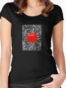 ABSTRACT CERTIFIED Women's Fitted Scoop T-Shirt