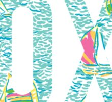 XOXO Lilly Boats Sticker