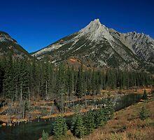 Mount Lorette in Autumn by Michael Collier