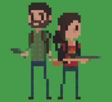Pixel Joel & Ellie by Tropelio