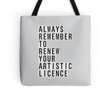 LICENCE RENEWAL Tote Bag