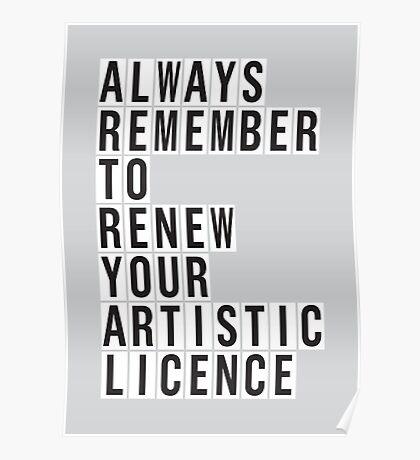 LICENCE RENEWAL Poster