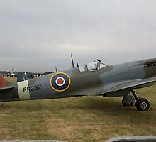 Spitfire at Commemoration of The Hardest Day took place at Biggin Hill Airport by Keith Larby